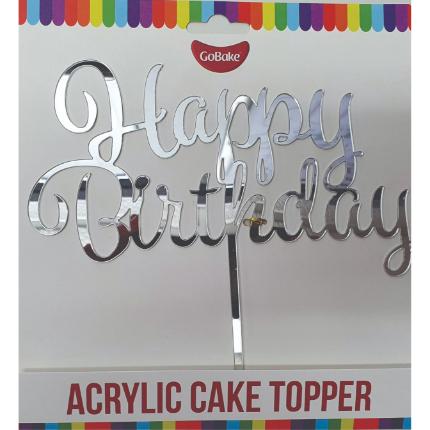 Acrylic Topper Happy Birt
