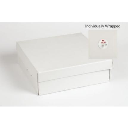 12x12x4 White Individual Corrugated Cake Box
