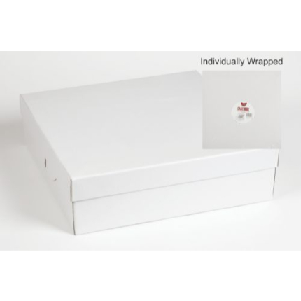 14x14x4 White Individual Corrugated Cake Box