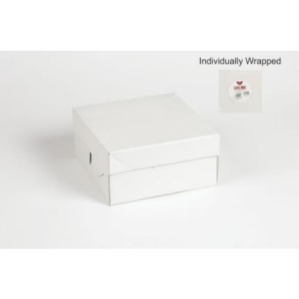 8x8x4 White Individual Corrugated Cake Box