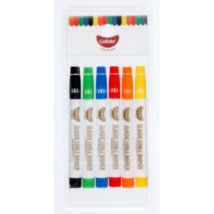 Bright Rainbow Classic Edible Markers