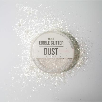 Edible Glitter Dust Silve