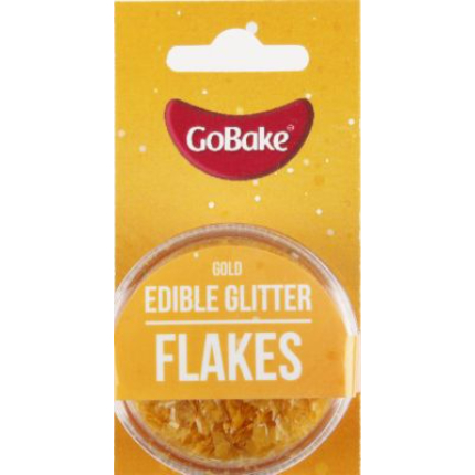 Edible Glitter Flakes Gol