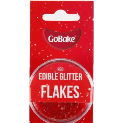 Edible Glitter Flakes Red