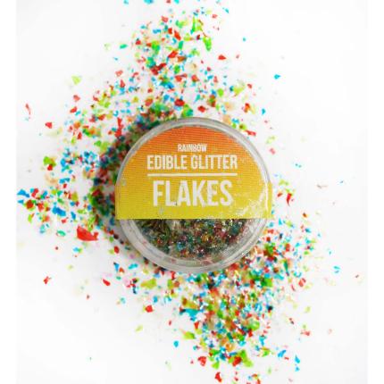 Edible Glitter Flakes Rai