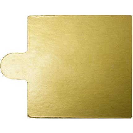 7.5cm Square Gold 1mm 100