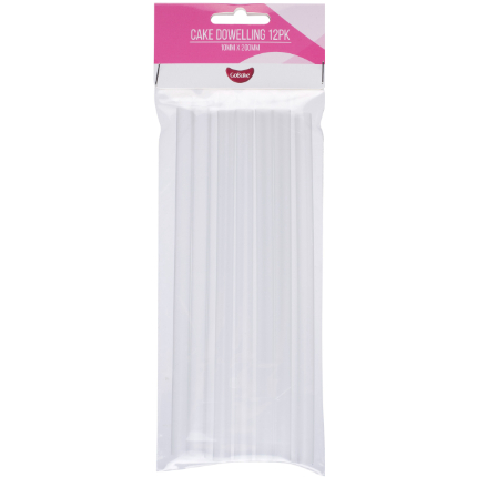 Clear Plastic Dowels 10x2