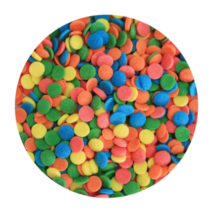 Shapes 5mm Confetti Rainb
