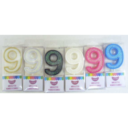 Candles Mini Number Glitt