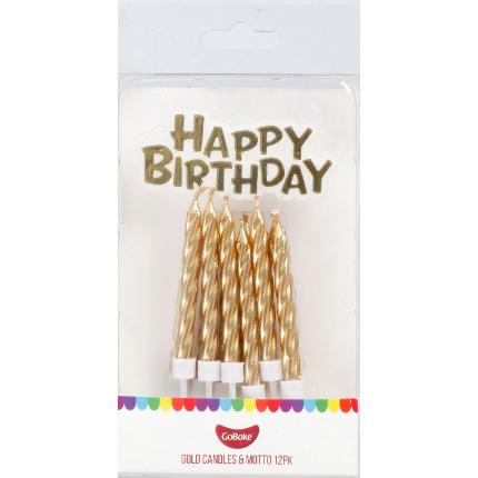 Candles & Motto Gold - PK