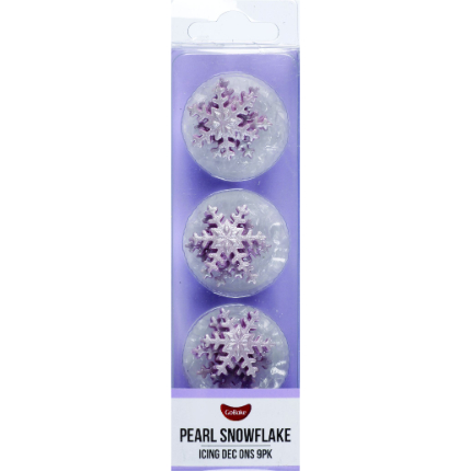 Purple Pearl Snowflake