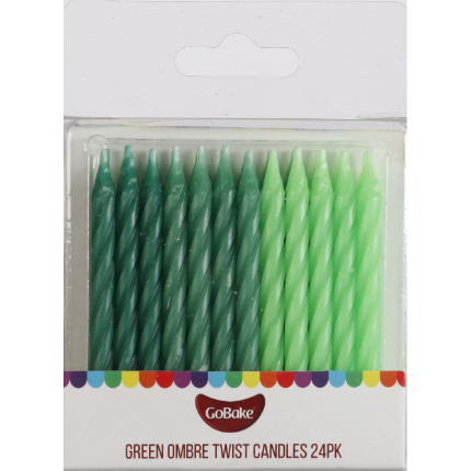 Green Ombre Candles 24pk