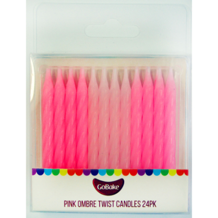 Pink Ombre Candles 24pk