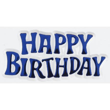 Motto Happy Birthday Blue