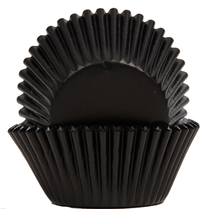 Baking Cups 50x35mm Black