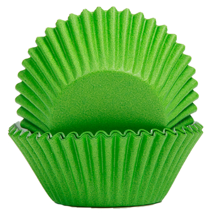 Baking Cups 50x35mm Green