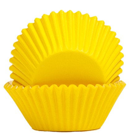 Baking Cups 50x35mm Yello