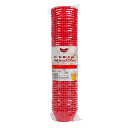 Baking Cups 50x35mm Red -