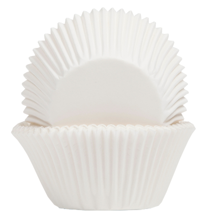 Baking Cups 50x40mm White