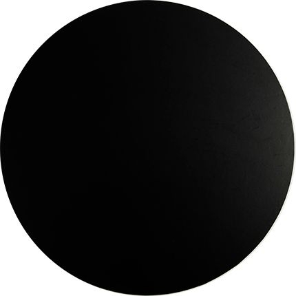 12 Inch Round Black 4mm Masonite