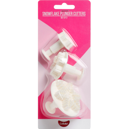 GoBake Snowflake Plunger Cutter Set of 3