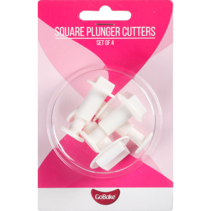 GoBake Square Plunger Cutter Set of 4