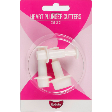 GoBake Heart Plunger Cutter Set of 3