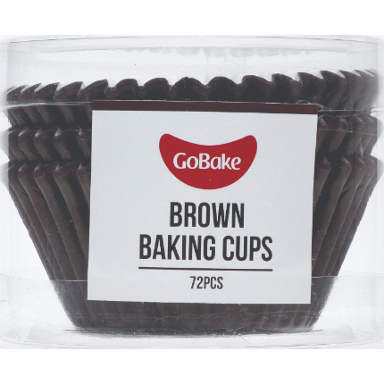 Baking Cups 50x35mm Brown