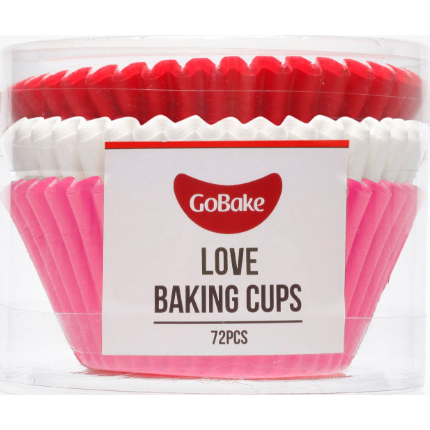 Baking Cups 50x35mm Love