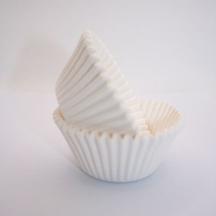 Baking Cups 50x35mm White