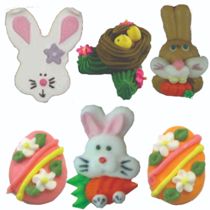 Easter Asst Decs 144pk