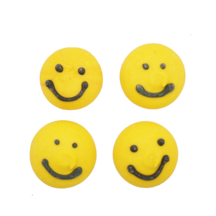 Yellow Smiley Decs 180pk