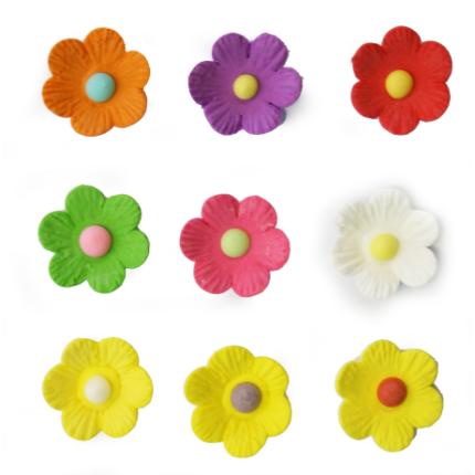 Bright Embossed Daisy Flowers