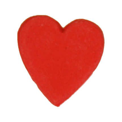 2cm Red Gumpaste Hearts
