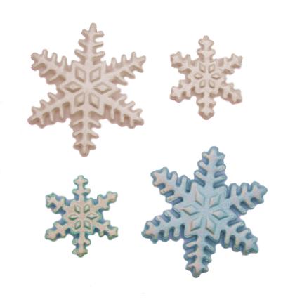 Gumpaste 4cm Snowflake -
