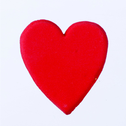 30mm Red Gumpaste Hearts