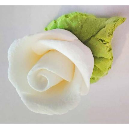 Gumpaste 2cm Rose W Leaf