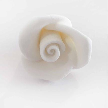 Gumpaste 2cm Rose - White