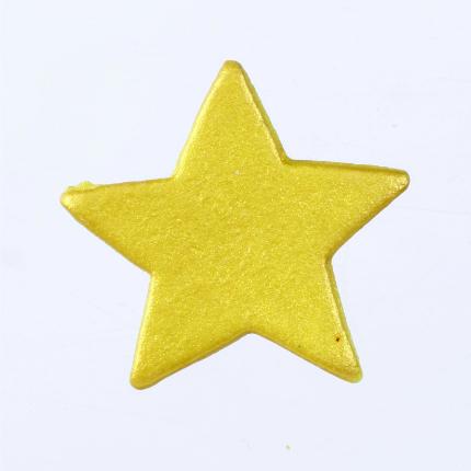 Gumpaste 3cm Star - Gold