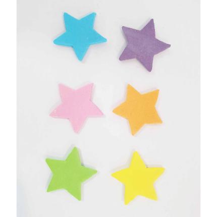 30mm Neon Gumpaste Stars