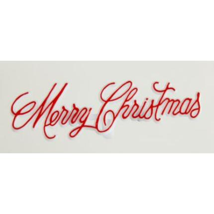 Red Swirly Merry Christmas Mottoes