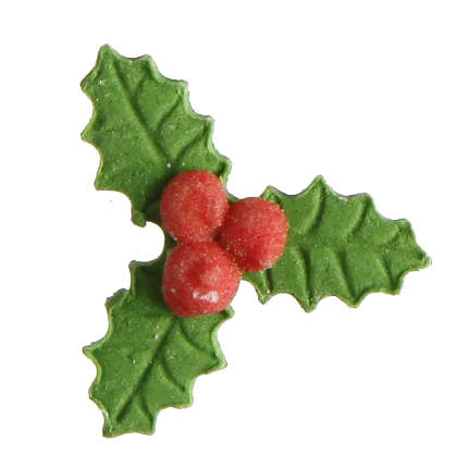 30mm Holly Decs 108pk