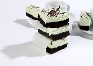 'No Bake' Chocolate Mint Slice